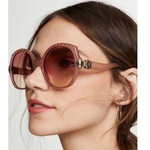 Chloé Vera Square Oversized Sunglasses in …